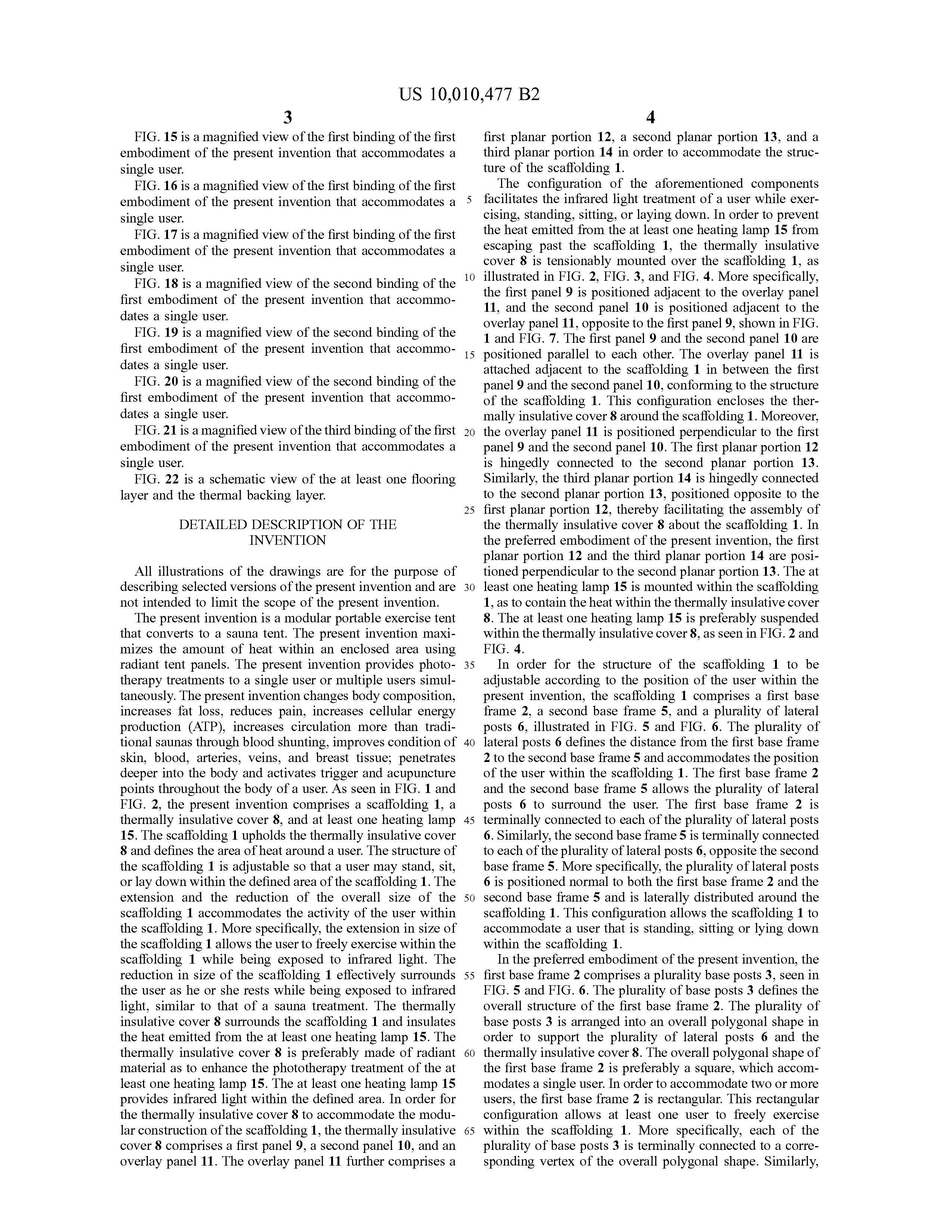 Sauna Tent Patent Page 26