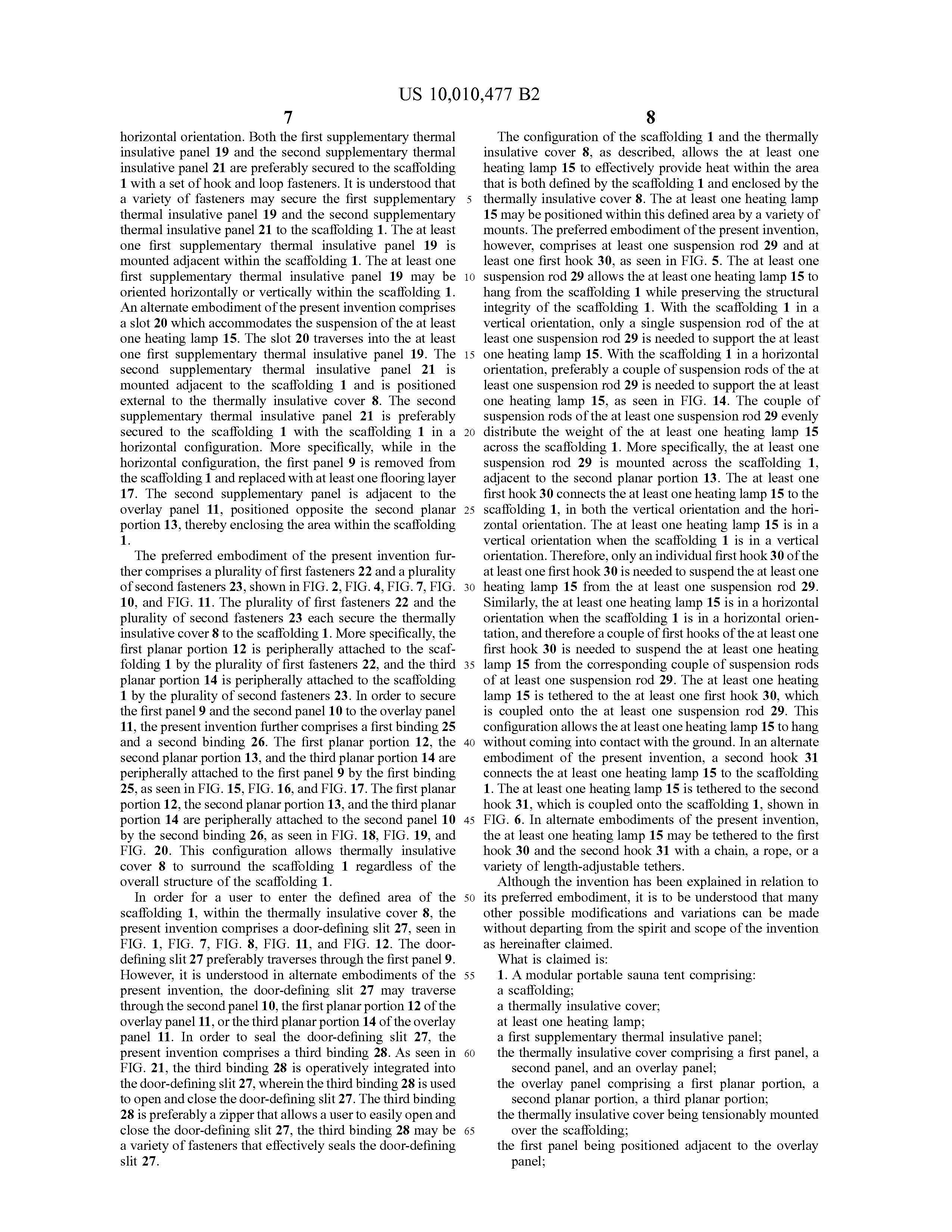 Sauna Tent Patent Page 28