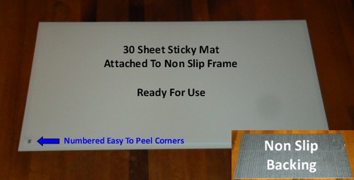 18x36 Clean Room White Tacky Mats 4 Mats 120 Sheets Per