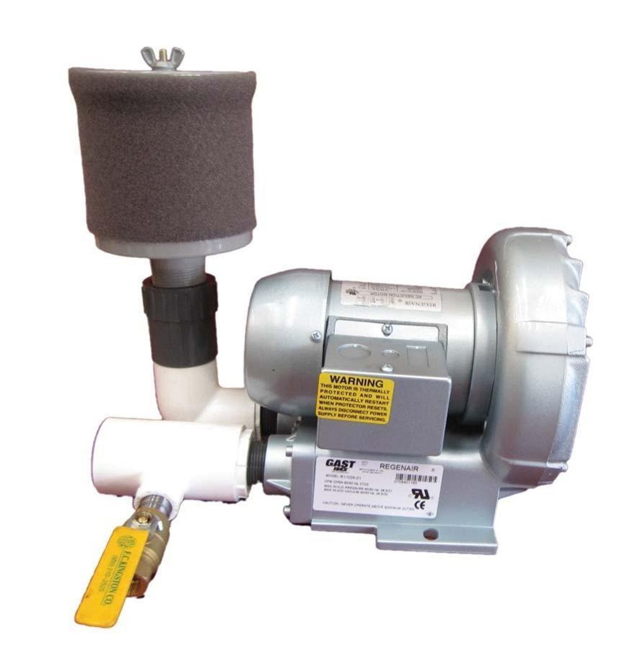 EasyPro Regenerative Blowers with filter & valve
