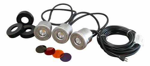 Kasco Marine LED Stainless Steel Housing Light Kit, 3 Fixtures
