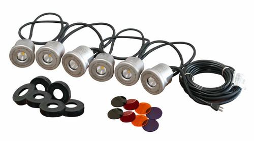 Kasco Marine LED Stainless Steel Housing Light Kit, 6 Fixtures