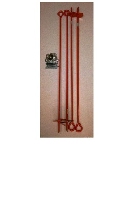 Outdoor Water Solutions WNP0154 Wooden Windmill Anchor Kit (Includes 4 anchors + mounting hardware)