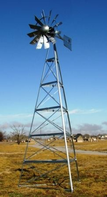 Outdoor Water Solutions Galvanized Steel Windmills-3 Legged Windmills