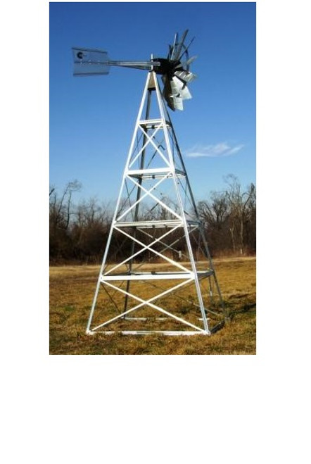 Outdoor Water Solutions Galvanized Steel Windmills-4 Legged Windmills