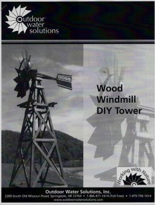 Outdoor Water Solutions Wooden Windmill Tower Kits