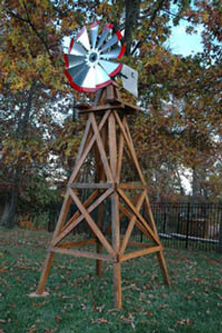 Outdoor Water Solutions Wood Backyard Windmills