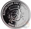 2016 1oz .999 Silver Congo Silverback Gorilla Proof Color Coin 5000 Francs