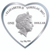 TOGETHER FOREVER Heart-Shaped Fine Silver Coin Tokelau 2017