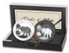 Elephant BLACK & WHITE 2 COIN SET - 1 oz Silver Ruthenium 2017 Somalia