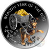 WEALTHY YEAR OF THE DOG Silver Proof Coin 100 Denars Macedonia 2018