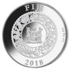 YEAR of the DOG with Black Freshwater Pearl 1 oz Silver Coin 10$ Fiji 2018