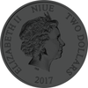 NIUE- 2017 1 oz Silver Coin - Color & Ruthenium