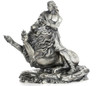 SAMSON & the LION – 20 oz Silver 3D STATUE with Serial Number