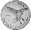 2015  1 oz Silver Birds of Prey Series Red Tailed Hawk