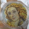 BIRTH OF VENUS Botticelli Great Micromosaic Passion 3 Oz Silver Coin 20$ Palau 2017