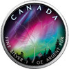 NORTHERN LIGHTS - ALBERTA - 1 oz Silver Coin - Canadian Maple Leaf 2018