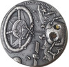 SPACE MINING Chondrite Meteorite - 1 Oz UHR Silver Coin Niue 2018