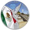 PYRAMID OF CHOLULA  LIBERTAD - 1 OZ SILVER COIN MEXICO  2018