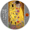 THE KISS Gustav Klimt Golden Five Silver Coin 1$ Niue 2018