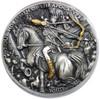 WHITE HORSE- FOUR HORSEMEN High Relief 2 oz silver coin Niue 2018