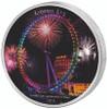 LONDON EYE Landmarks at Night 2 Oz Silver Coin 2000 Frcs Ivory
