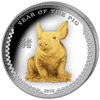 Year of The Pig - 1 oz Proof Gilded Silver Coin Ultra High Relief 2019 Palau