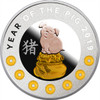 2019 – Year of the Pig 7 Elements Silver Coin Niue