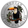 TOUCAN 1 Oz Silver Color Coin 1$ Niue 2018