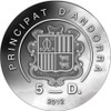"""Silver Coin """" Four Seasons of the Year"""" w/ UHR Satin Andorra"""
