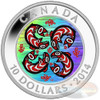 Silver Hologram Coin - First Nations Art: Salmon Canada 2014