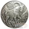 2015  ARIES ZODIAC  MEMENTO MORI Rimless HR Antique Silver 1oz