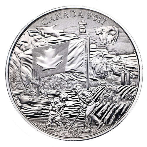 THE SPIRIT OF CANADA - 2017 $3 Pure Silver Coin Canada