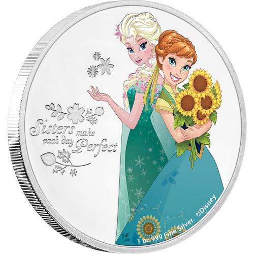 Elsa & Anna - Sister - Disney Frozen Series- 2016 Niue 1 oz Silver Coin