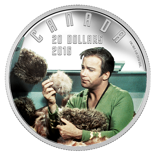 Star Trek  - The TROUBLE with TRIBBLES  2016 $20 1 oz Silver Coin