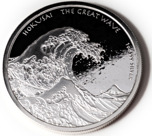 "1 oz ""Great Wave"" Coin BU  Fiji 2017"