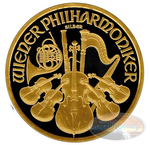 Vienna Philharmonic Gold Ruthenium Coin - 2016 Austria 1 Oz Silver