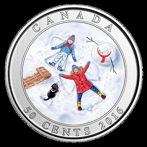 *SNOW ANGELS -  50-Cent Lenticular Coin - RCM Canada 2016