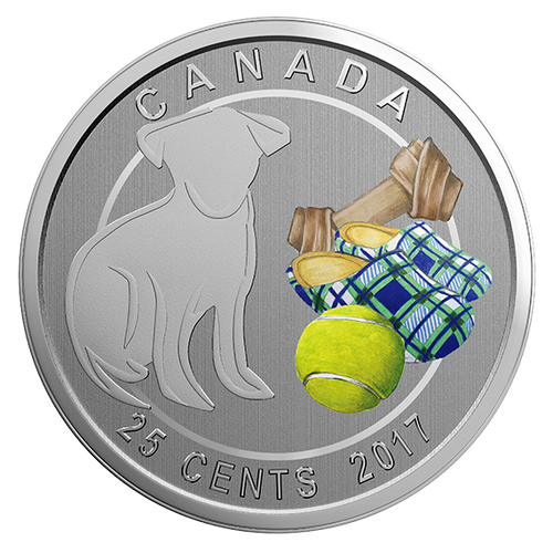 LOVE MY DOG - 25-Cent Coin - RCM Canada 2017