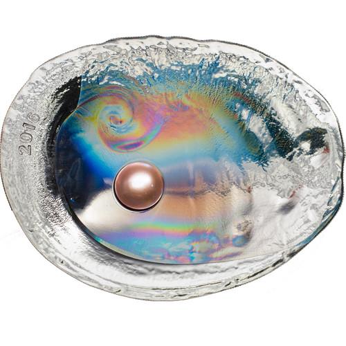 HALIOTIS OVINA PEARL Abalone - Hologram Silver Coin 20$ Palau 2016