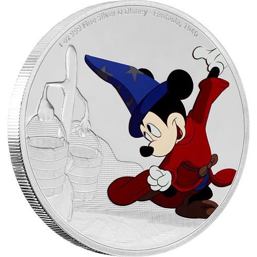 MICKEY MOUSE - Through the Ages - FANTASIA - 2017 1 oz Silver Coin