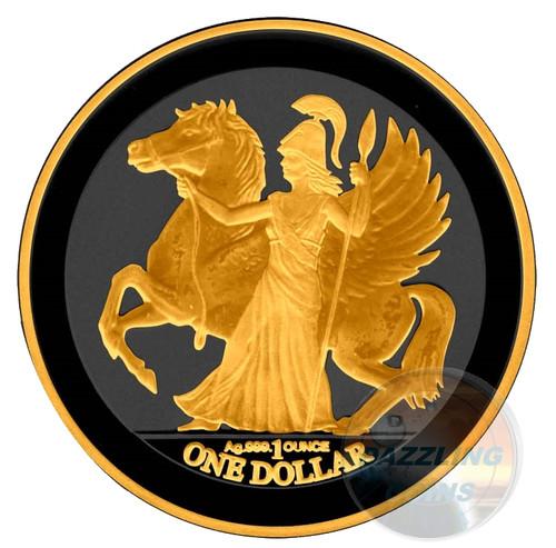 Pegasus Gold Black Empire 1 oz Silver British Virgin Islands 2017