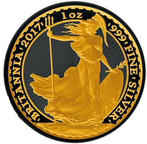 1 OZ Britannia 2017 Gold Black Empire