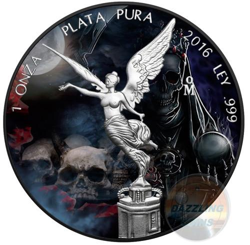 SANTA MUERTE Libertad 1 Oz Silver Coin Mexico 2016