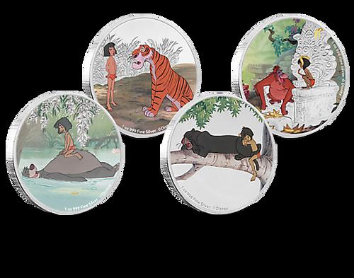 Jungle Book 50th Anniversary 4x1 Oz Silver Coins 2 Niue 2017