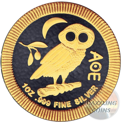 OWL of ATHENS Gold Black Empire Edition 1 OZ Niue 2017