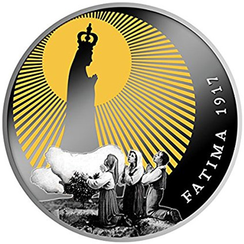 APPARITIONS OF FATIMA 100th Anniversary Silver Coin 500 Francs Cameroon 2017