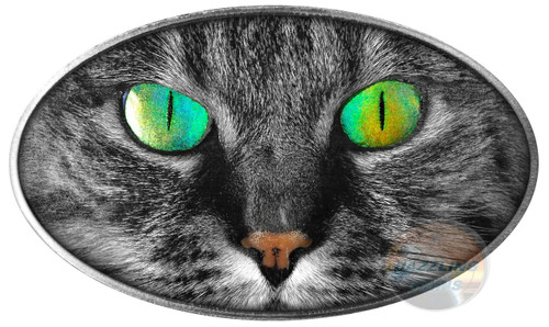 KITTY CAT with Holographic Eye 1 oz Ultra High Relief Silver Coin Niue 2017