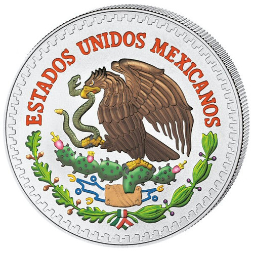 LIBERTAD COLORIZED 1/2 Oz Silver Coin Mexico 2013