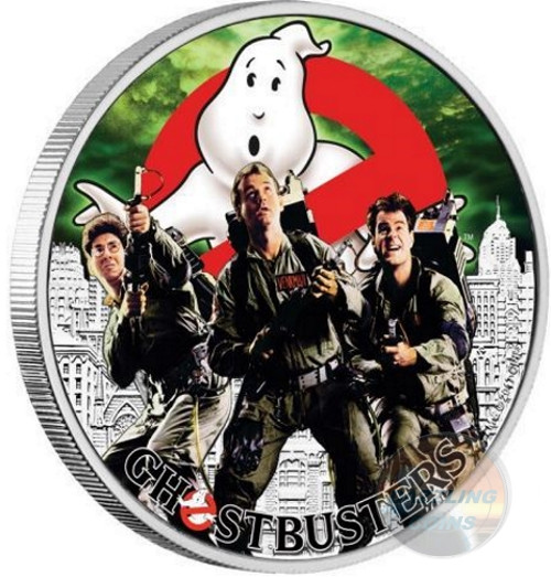 GHOSTBUSTERS CREW 1 Oz Silver Coin 1$ Tuvalu 2017